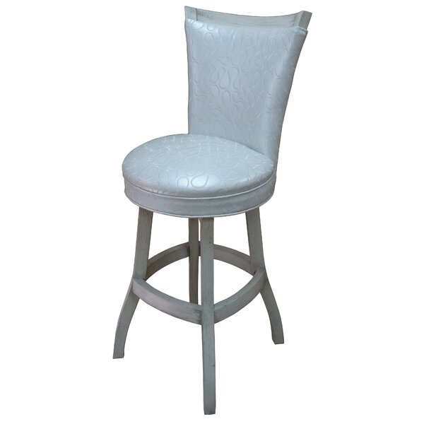 Kenley 35 Swivel Bar Stool by Highland Dunes