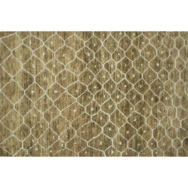 Palumbo Hand-Knotted Elmwood Area Rug by Union Rustic