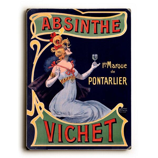 Absinthe Vichet Wine Graphic Art by Artehouse LLC