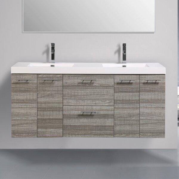 Ophir 72 Wall-Mounted Double Bathroom Vanity by Orren Ellis