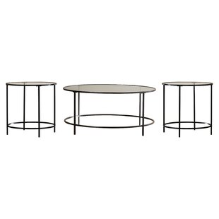 Casanova 3 Piece Coffee Table Set by Mercury Row