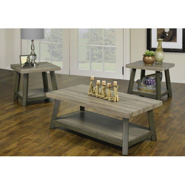 Harbin Reclaimed Wood Look 3 Piece Coffee Table Set By Red Barrel Studio