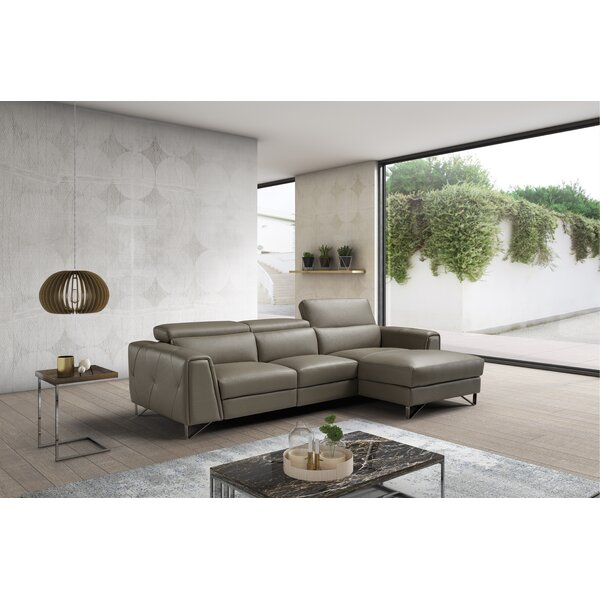Perfect Brands Quinton Leather Reclining Sectional by Orren Ellis by Orren Ellis