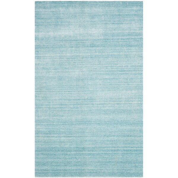 Milmont Hand-Woven Sky Area Rug by Beachcrest Home