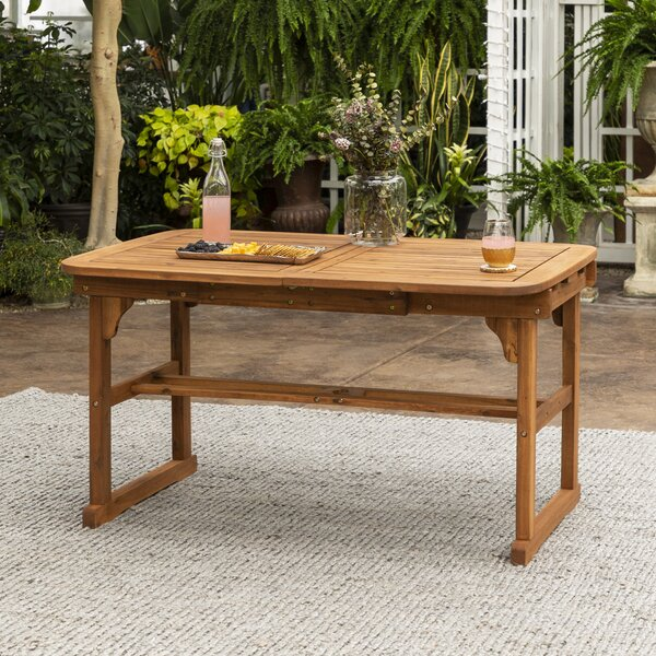 Tim Extendable Wooden Dining Table by Birch Lane Heritage Birch Lane™ Heritage