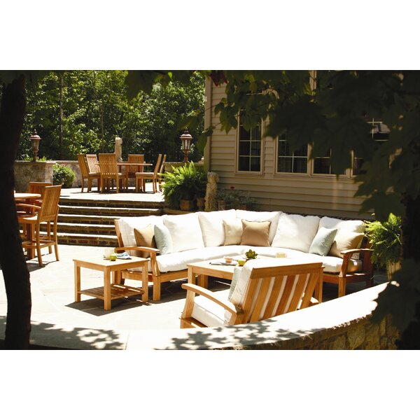 Monterey Teak Patio Chair with Cushions by Three Birds Casual