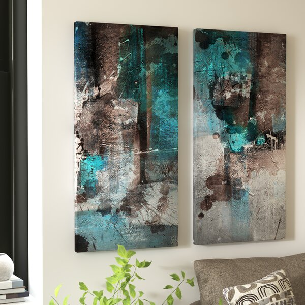 Graphic Art Print on Canvas (Set of 2) by Zipcode Design
