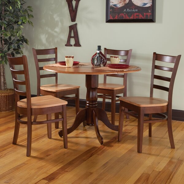 Chicopee 5 Piece Solid Wood Dining Set by Loon Peak Loon Peak