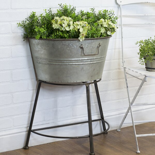Weyer Classic Country Galvanized Pot Planter by Gracie Oaks
