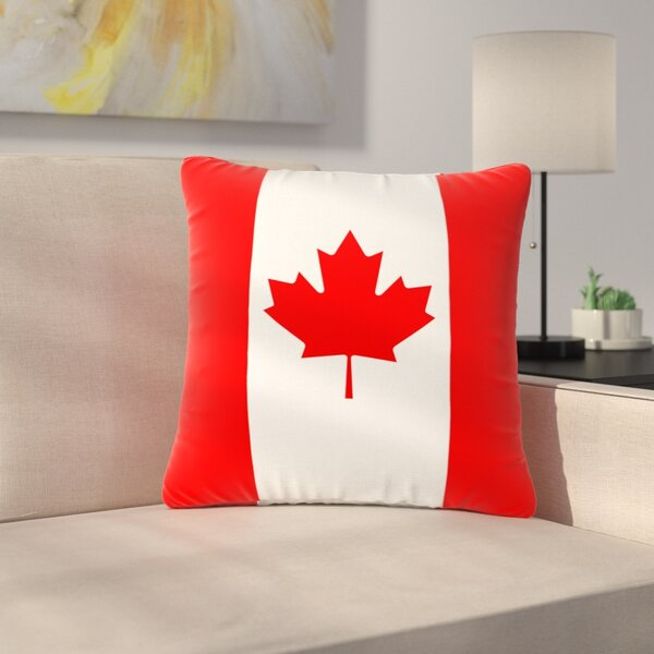 Bruce Stanfield Flag of Canada Outdoor Throw Pillow by East Urban Home