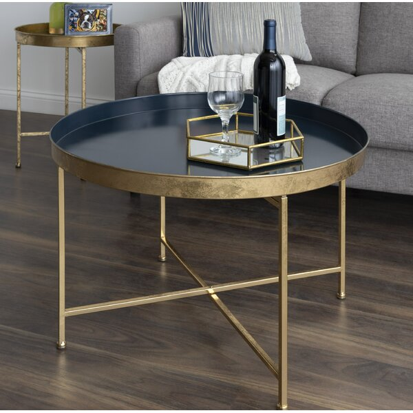 Blaylock Cross Legs Coffee Table by Everly Quinn Everly Quinn