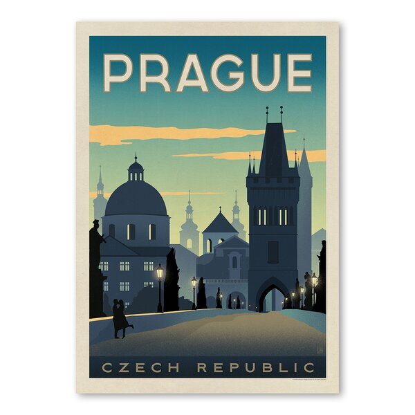 Prague Vintage Advertisement by East Urban Home