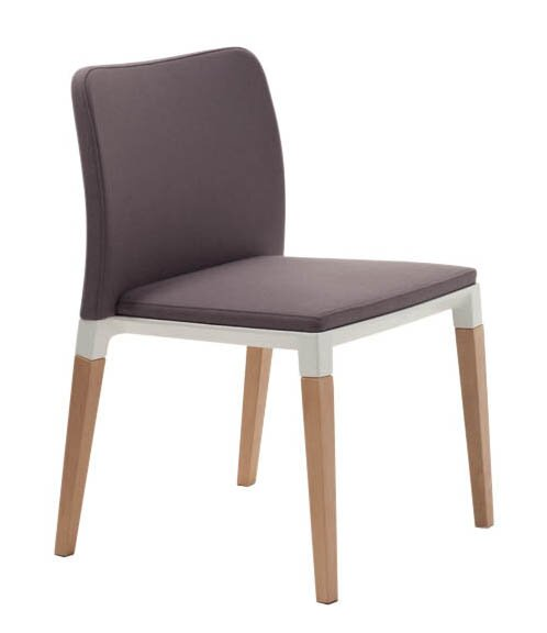 Zenith Armless Stacking Chair with Cushion by Segis U.S.A