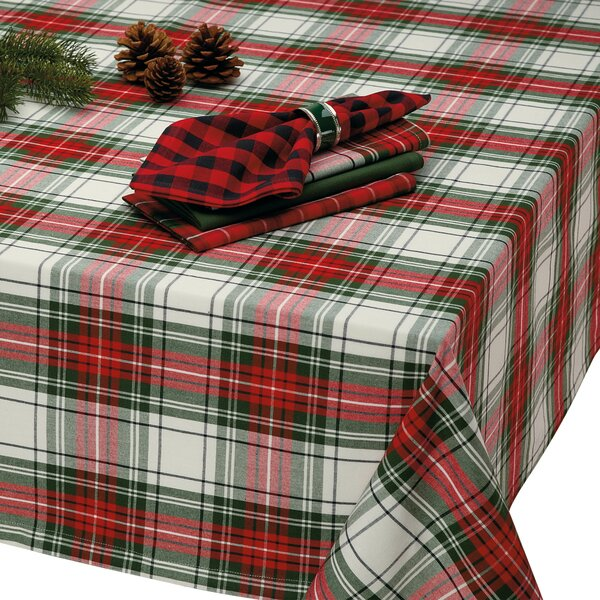 Matthew Christmas Plaid Tablecloth by The Holiday