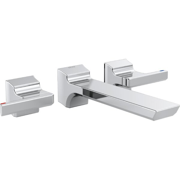 Pivotal Double Handle Wall Mounted Tub only Faucet Trim by Delta