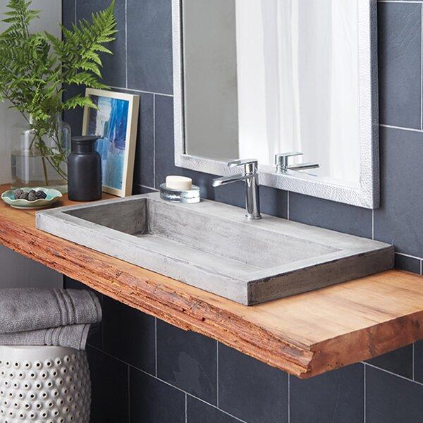 Trough Stone Rectangular Drop-In Bathroom Sink by Native Trails, Inc.