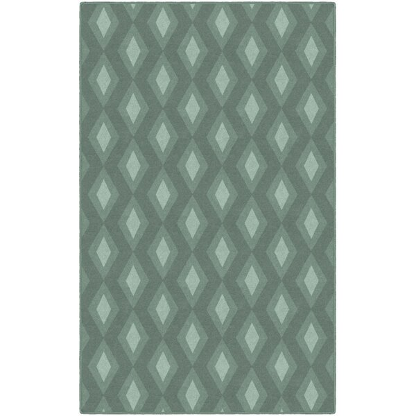 Fitzwater Green Diamonds, Simple Trellis Green Area Rug by Wrought Studio
