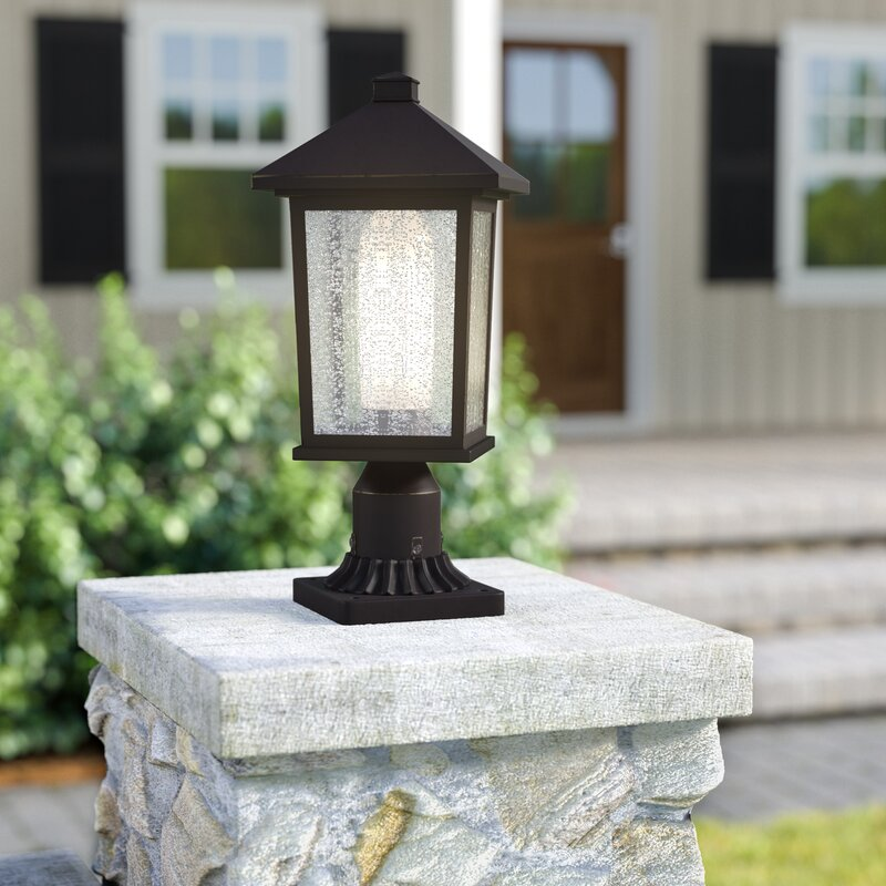 outdoor pier mount lights gate pier olive outdoor 1light pier mount light andover mills wayfair