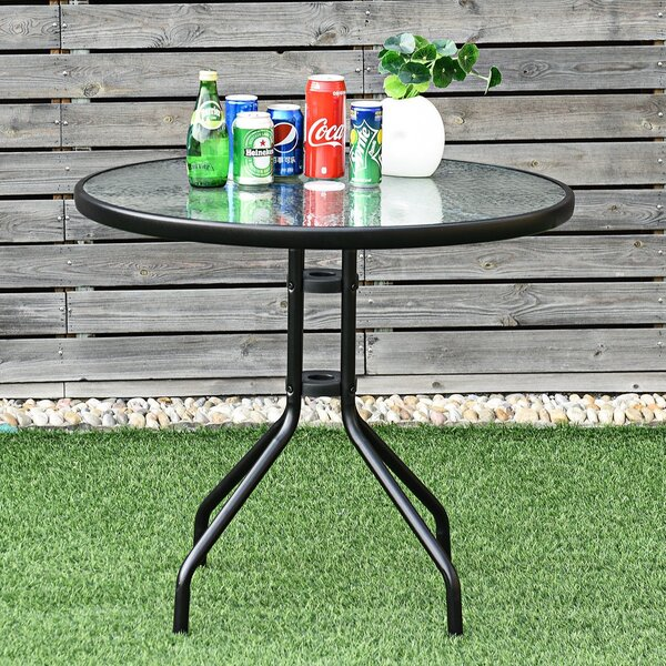 Trussville Steel Bistro Table by Ebern Designs