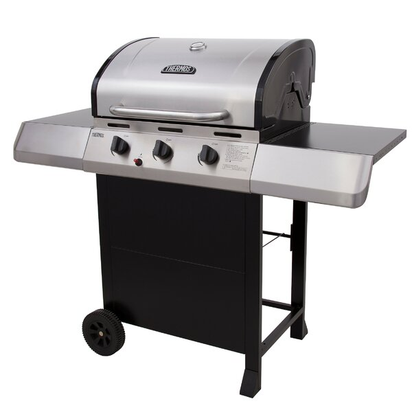 3-Burner Propane Gas Grill with Side Shelves by Thermos