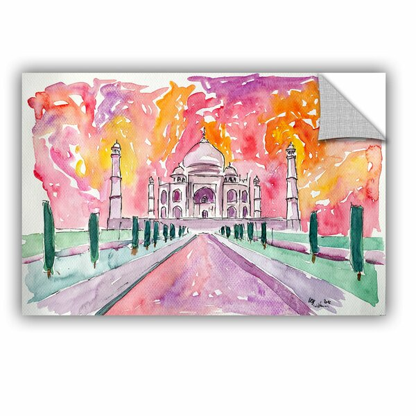 Markus and Martina Bleichner Taj Mahal Colorful Wall Decal by ArtWall