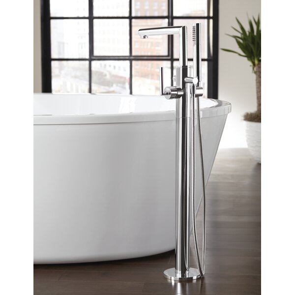 Moen Arris Single Handle Floor Mount Tub Filler Trim with Hand ...