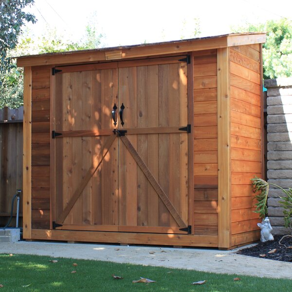 SpaceSaver 8 ft. W x 4 ft. D Wooden Lean-To Tool Shed by Outdoor Living Today