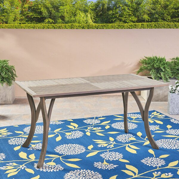 Balceta Solid Wood Dining Table by Breakwater Bay