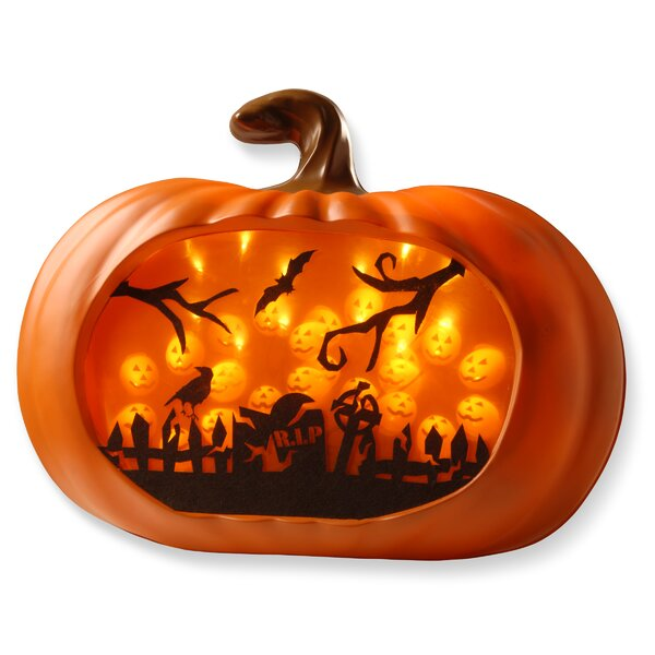 Lighted Pumpkin Wall Piece by National Tree Co.