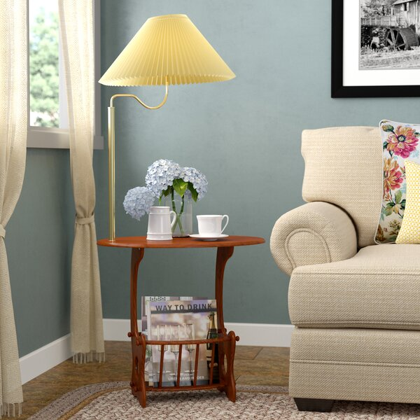 Surles Swing Brass Lamp End Table by August Grove