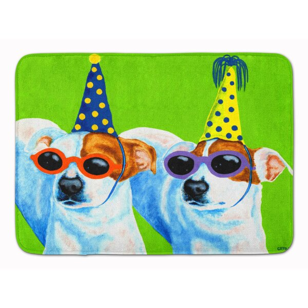 Party Animals Jack Russell Terriers Memory Foam Bath Rug by East Urban Home