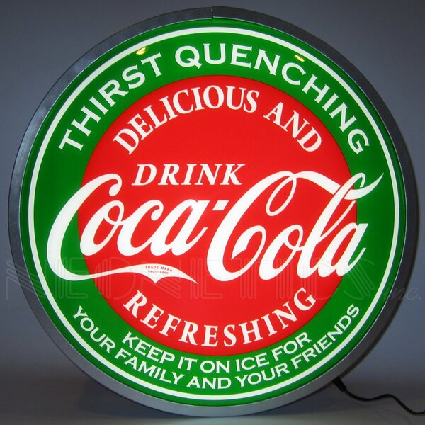 Coca-Cola Evergreen Backlit LED Lighted Sign by Ne