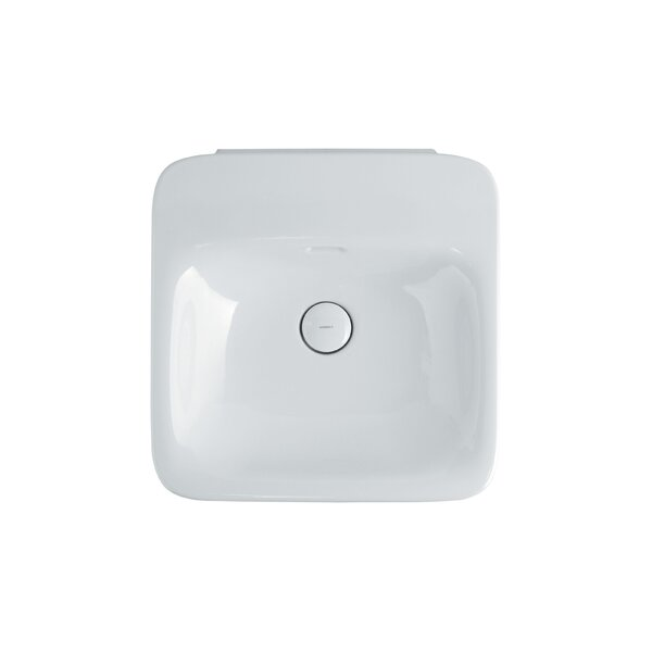 Ceramic 20 Wall Mount Bathroom Sink with Overflow by WS Bath Collections