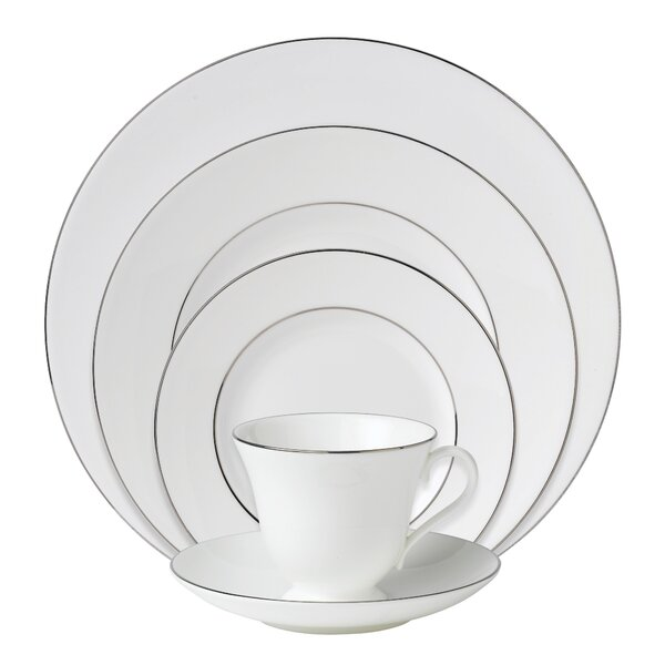 Signet Platinum Bone China 5 Piece Place Setting, Service for 1 by Wedgwood