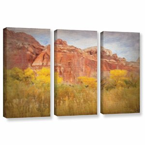 Southwest Splendor 3 Piece Painting Print on Wrapped Canvas Set by Charlton Home