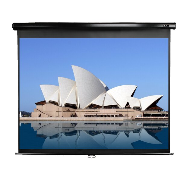 Manual Series White 135 diagonal Manual Projection Screen by Elite Screens