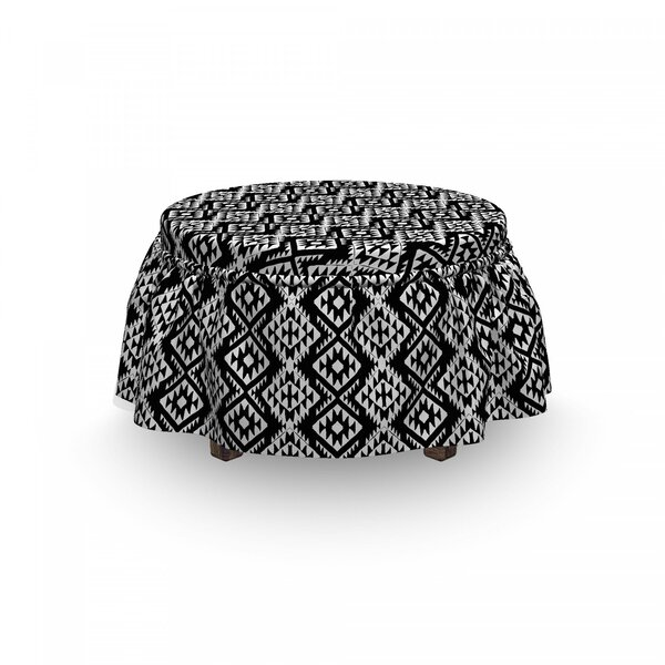 Aztec Motif Ottoman Slipcover (Set Of 2) By East Urban Home
