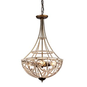 Hercules Scale 4-Light Crystal Chandelier