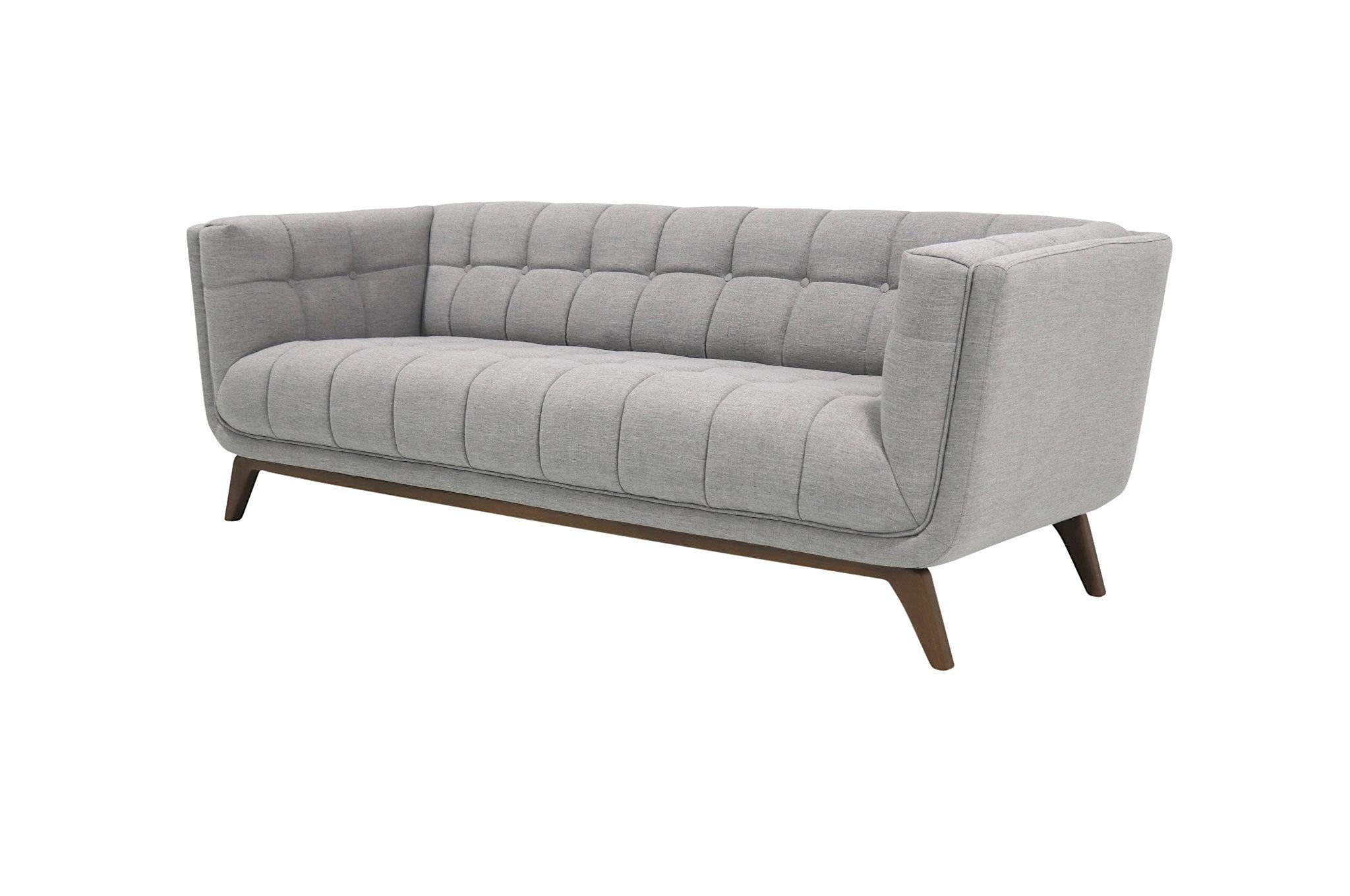 Worsley Mid Century Modern Chesterfield Sofa
