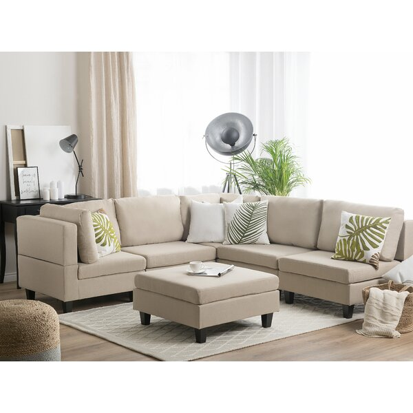 Whitted Modular Symmetrical Sectional with Ottoman by Ebern Designs