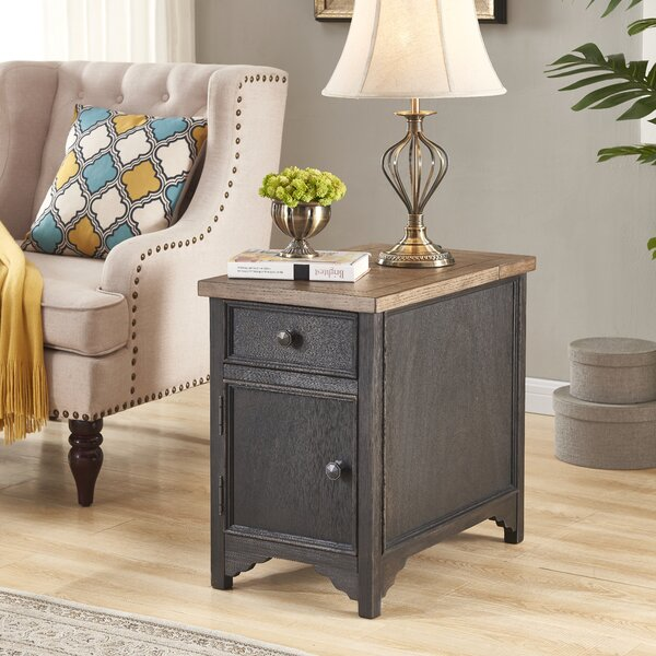 Salazar End Table with Storage by Canora Grey