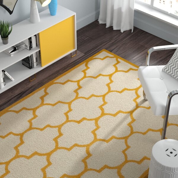 Charlenne Hand-Tufted Ivory/Gold Area Rug by Zipcode Design