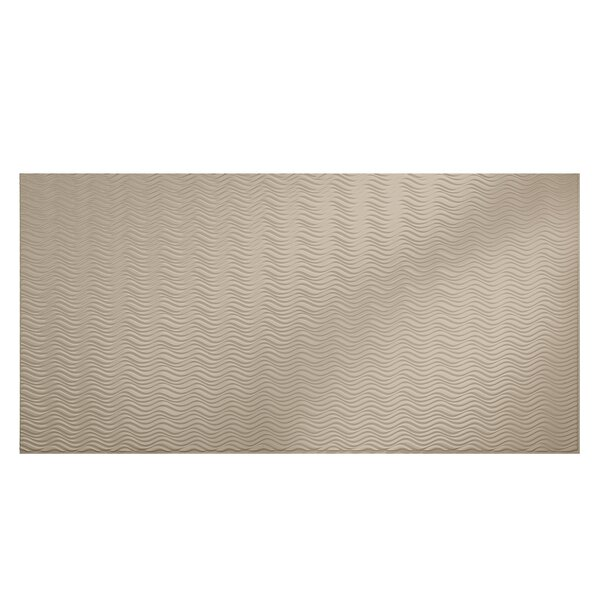 Current Horizontal 48 x 96 PVC Backsplash Panel in Bisque by Fasade