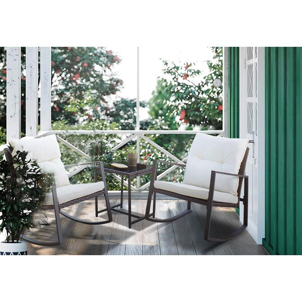Darwin 3 Piece Rattan Seating Group with Cushions by Laurel Foundry Modern Farmhouse