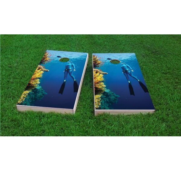 Scuba Girl Cornhole Game Set by Custom Cornhole Boards