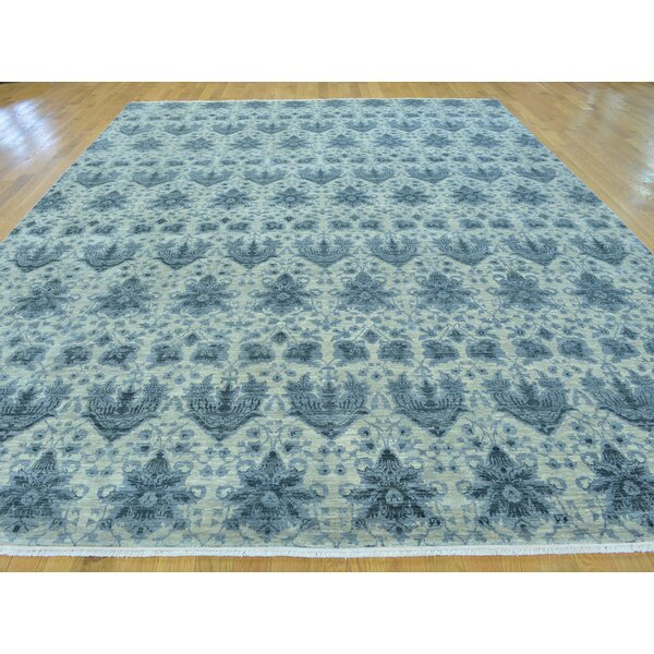 One-of-a-Kind Beyers Transitional Hand-Knotted Beige Wool/Silk Area Rug by Isabelline