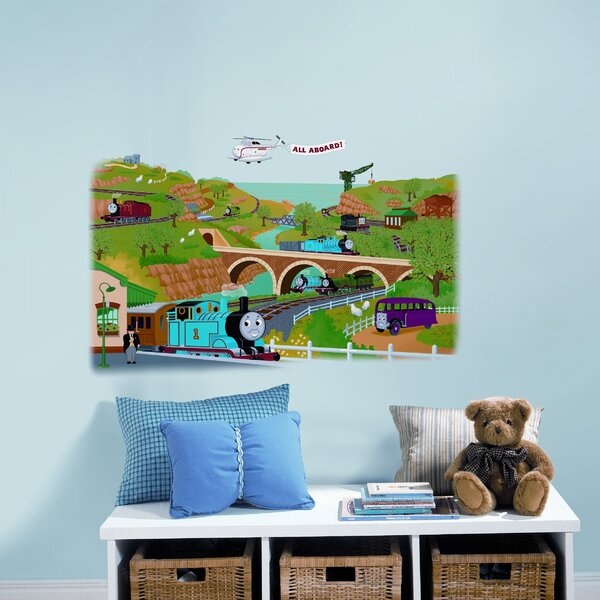 Favorite Characters 2 Piece Thomas and Friends Giant Wall Mural by Room Mates