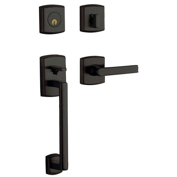 Soho Full Dummy Handleset with Interior Lever and Sectional Trim by Baldwin