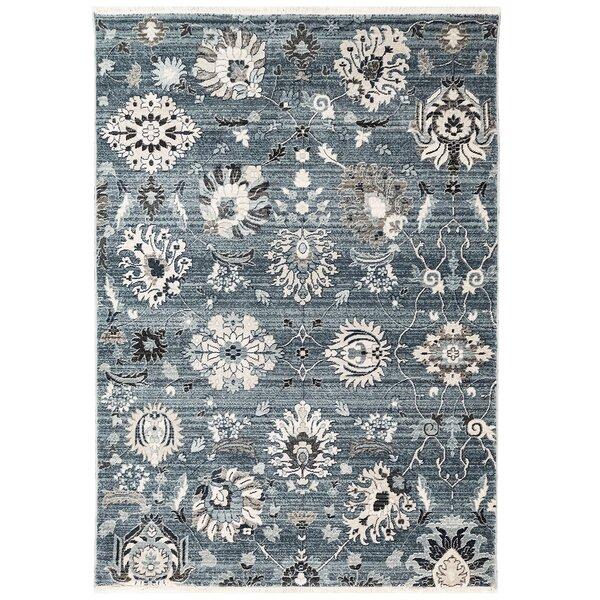 Osblek Floral Blue Area Rug by Charlton Home