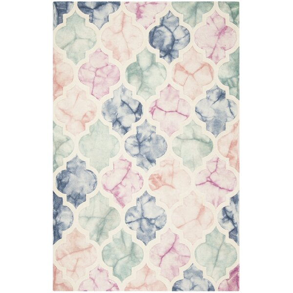 Corydon Hand Tufted Wool Pink/Ivory Area Rug by Bungalow Rose